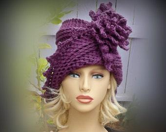 Crochet Pattern Hat Crochet Hat Pattern Download, Womens Hat Crochet Flower Pattern Crochet, Lauren 1920s Cloche Hat Pattern, Mobius Hat