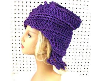 Russian Flapper Hat Downton Abbey Crochet Hat, Crochet Cloche Hat, Great Gatsby Crochet Cloche Hat, Grape Purple Hat, Lauren Hat