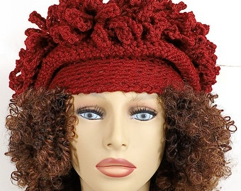 Crochet Hat Womens Hat Cloche Hat, Womens Crochet Hat Crochet Womens Hat Winter Hat, Adult Crochet Cloche Hat
