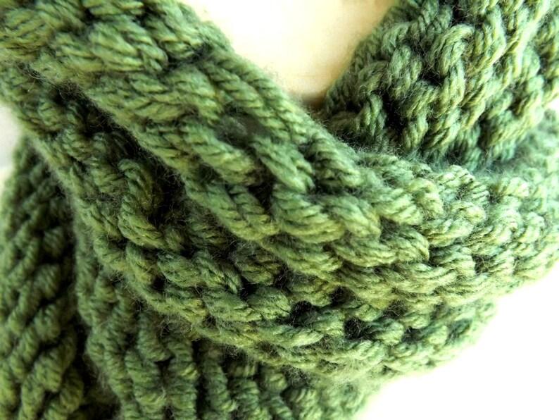 Infinity Scarf Knitting Pattern Size 13 Circular Needles ...