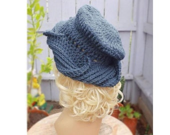 Crochet Patterns for Women, Samantha Turban Cloche Hat Patterns for Cancer Patients, Crochet Chemo Hats