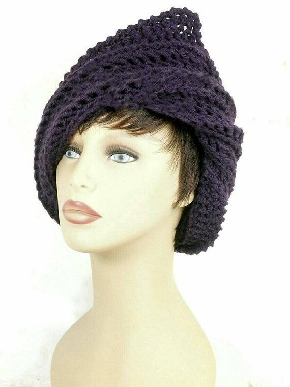 KNITTING PATTERN Ladies Hat Cloche 1920s 30s flapper flower cap beanie 654