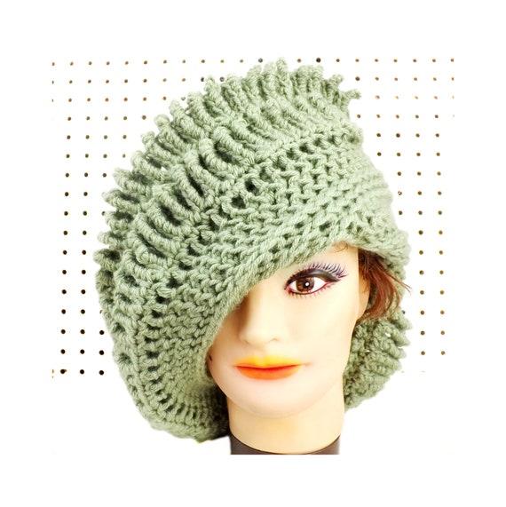 Women Crochet Cloche Hat Pattern Asymmetrical Hat Brim Etsy