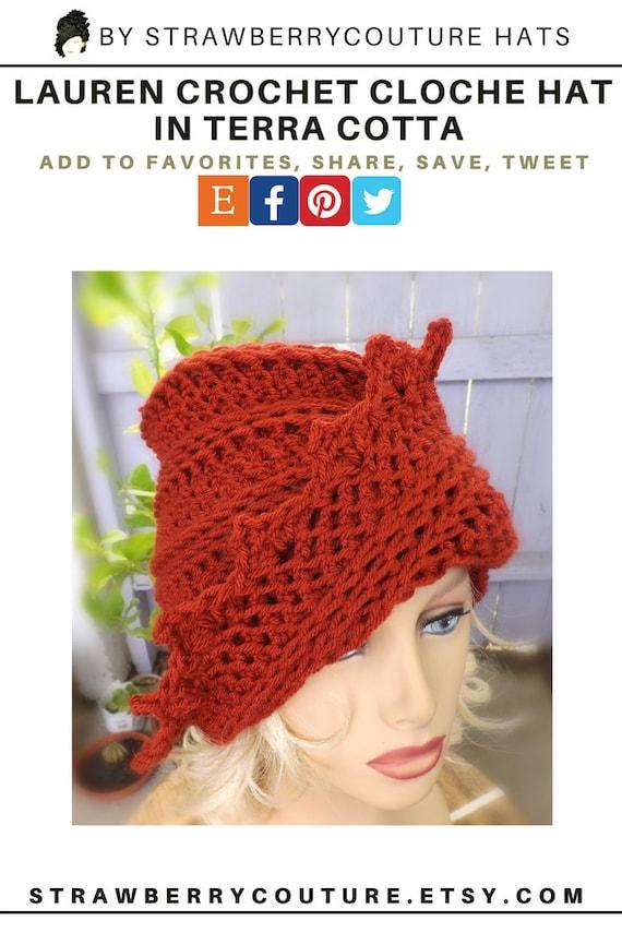 Lauren Hut häkeln Hut Cloche Hut für Frauen Womens Eimer