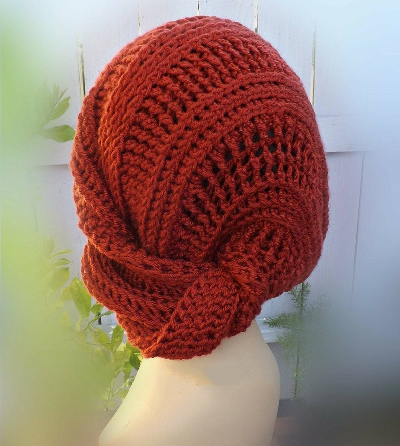 00db31664cb Lunch Lady Crochet Slouchy Beanie Hat for Winter Women in