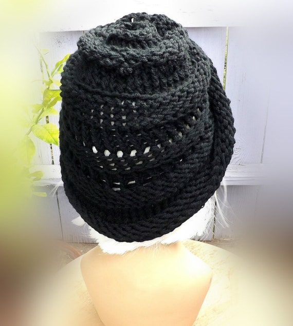 7d13c0fbb For Her Gifts, Ombretta Womens Knitted Beanie Hat Pattern Written  Instructions, How To Use Circular Needles To Mobius Cast On for Women, Her