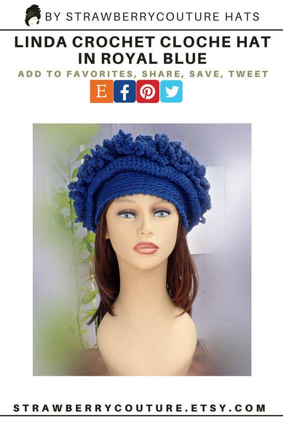 Crochet Cloche Hat For Women Crochet Hat Cloche Hat Cloche