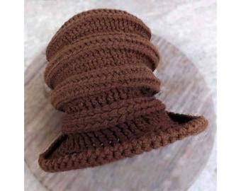 Crochet Patterns for Reggae Hat, Tall Rasta Crown Hat, Brimmed for Men and Women, Bucket Hat Dreadlocks, Magic Circle Increase, Decrease