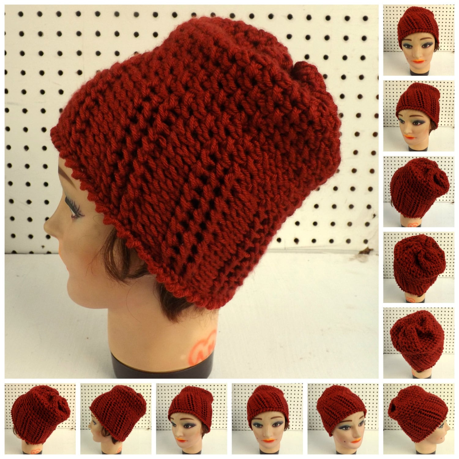 Crochet Hat Pattern Women Ribbed And Seed Stitch Easy Crochet Etsy