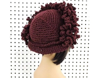 Crochet Patterns for Women, Linda Cloche Hat, Chemo Hats for Cancer Patients