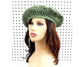 Crochet Beret Hat Patterns for Women, Slouch Tam, Single Crochet Stitches for Beginners, French Artist Hat, Magic Circle, Increase, Decrease