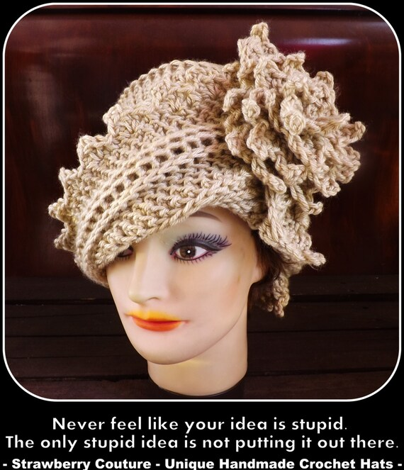 Art Deco Crochet Pattern Women Lauren 1920s Modern Cloche Hat  5316fcca40d