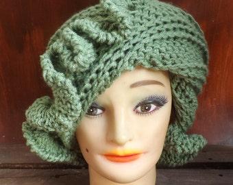 Crochet Patterns for Womens Hat,  Crochet Pattern Hat,  Cloche Hat Pattern  Womens Hat,  Cynthia 1920s Cloche Hat,  Cloche Pattern