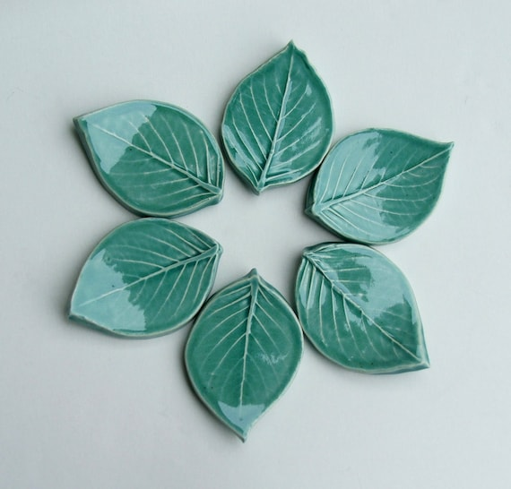 Ceramic Kniferests, Chopstick Rest, Set Of Six, Leaf, Handmade by Etsy