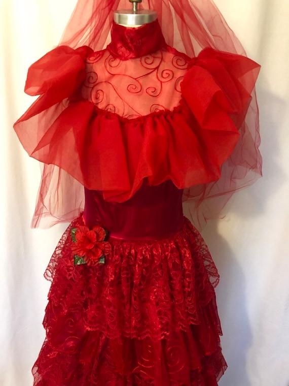 Lydia Deetz Wedding Dress Beetlejuice Replica Cosplay Sizes Etsy