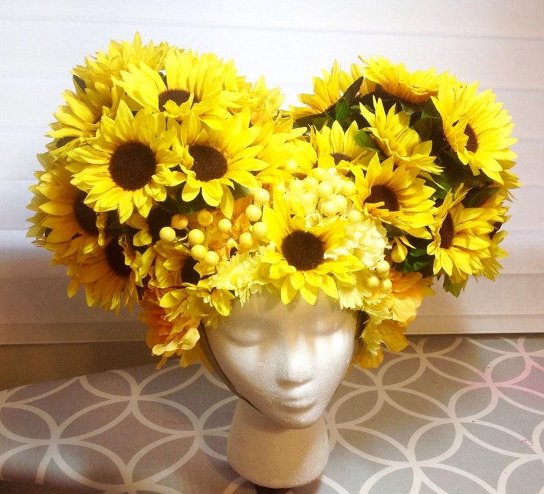 Sunflower Headpiece Wig Dragflower Child Hippie Priscilla Etsy