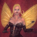 "SALE! - ""The Spanking Fairy"" - fantasy art print"