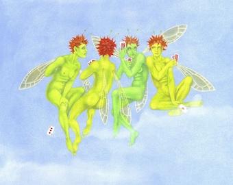 SALE! - Unrighteous Indignation - signed fairy art print