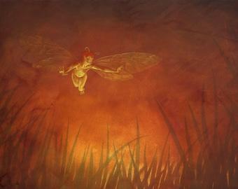 Art print - 'Fairy at Dusk'