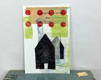 Monoprint - Homestead