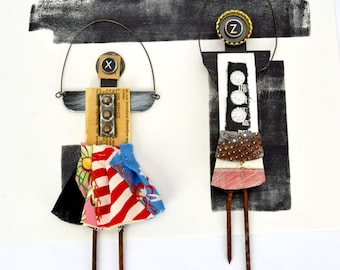 Mixed Media Art Dolls
