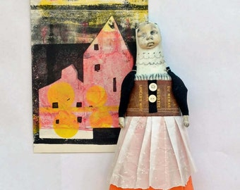 MIxed Media Art Doll Pita