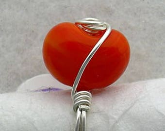 Jellybean Ring - Sterling silver wire wrap Easter ring