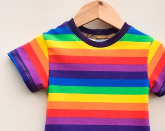 901953457 Rainbow kids shirt, cotton, boys rainbow shirt, unisex rainbow tee, girls  rainbow top