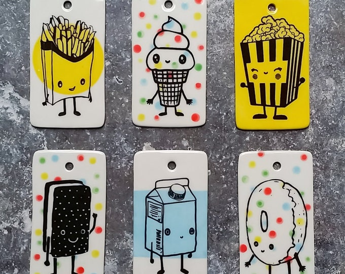 Featured listing image: NEW. Wall ornament/Gift Tag/Pop Art for pure Merriment & Decorations - Foods with Faces