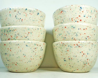NEW, A Cheery Sweet Tooth Glaze  SET of 6 cereal-noodle-soup-pasta-chili-ice cream Bowls