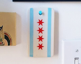 Chicago Flag Ornament for pure Merriment & Decoration of your wall, gift, tree, garland, home office, dorm