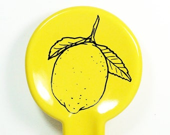 spoon rest with a Lemon print on Lemon Butter - Pick Your Color / Pick Your Print