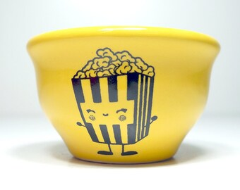 wee bowl happy popcorn  - Made to Order / Pick Your Colour