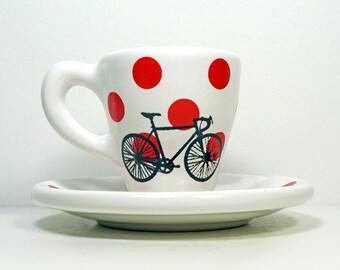 Tour de France. Espresso Cup w/Saucer (Polkadot Jersey)