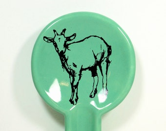 spoon rest with a billy goat - Made to Order / Pick Your Colour