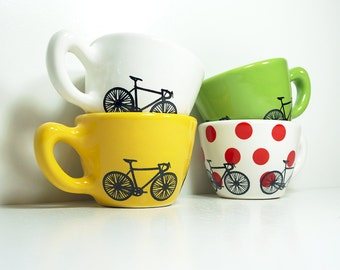 Super Fabulous & Unique Tour de France 12oz cups set of 4