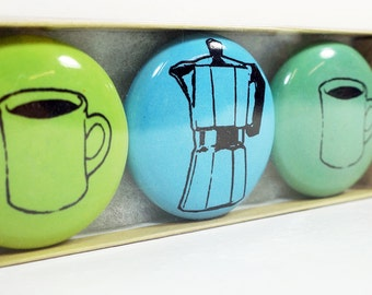 magnet set for the coffee drinker. (3pk)