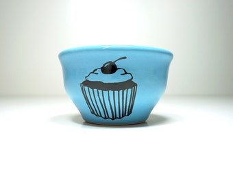 wee bowl cupcake  - Made to Order / Pick Your Colour