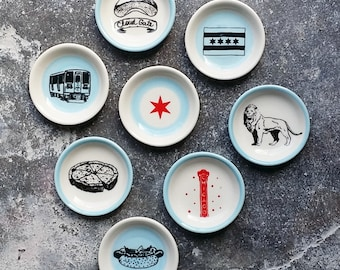 The Littlest Dish. Palm sized dishes for a myriad of things. Jewelry-Treats-Candles-Sauces-A Pinch of Salt- Chicago Icons
