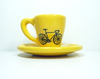 Tour de France. Espresso cup w/saucer (yellow jersey)