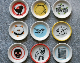 NEW. The Littlest Dish. Palm sized dishes for a myriad of things. Jewelry-Treats-Candles-Sauces-A Pinch of Salt-Just Because It's Adorable