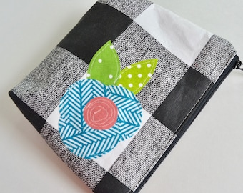 Modern Zipper Pouch - Make up Bag - Cosmetic Pouch - Colorful Zipper Pouch - Rainbow Pouch - Toiletry Bag - Bridesmaid Pouch - Banner Pouch