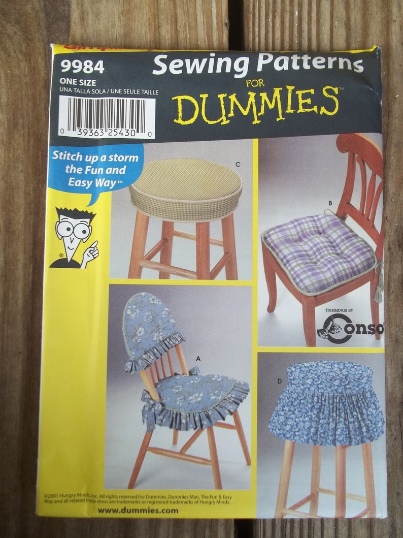 Admirable Simplicity Pattern Uncut 9984 Chair Stool Pads Covers Pdpeps Interior Chair Design Pdpepsorg
