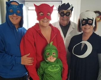Adult PJ Masks Mask, PJ Masks Birthday, PJ Masks Romeo, Luna Girl, Night Ninja, Robot