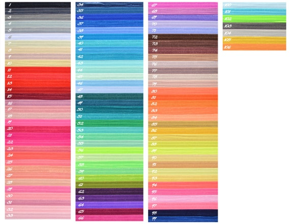Elastic Hair Ties - over 100 colors - non damaging hair ties - yoga ties 97376f4969a