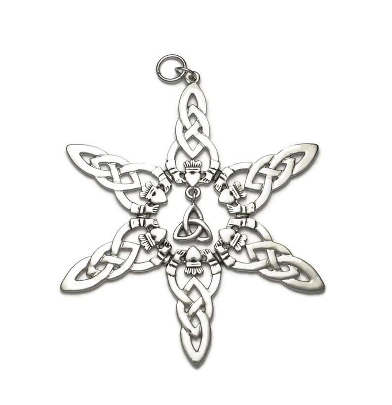1adb8ac13 Celtic Trinity Knot Claddagh Snowflake Ornament Boxed with Tag | Etsy