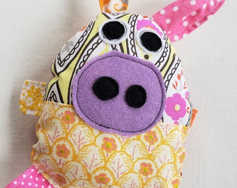 Little Piggie Stuffed Toy- Baby Safe Toy-Nursery Animal Decor-Soft Baby Toy