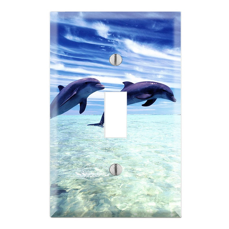 Dolphins Light Switch Cover, Dolphin in Ocean Light Switch Plate, Ocean  Plate Cover, Dolphin Lover, Dolphin Light Switch Cover AN01
