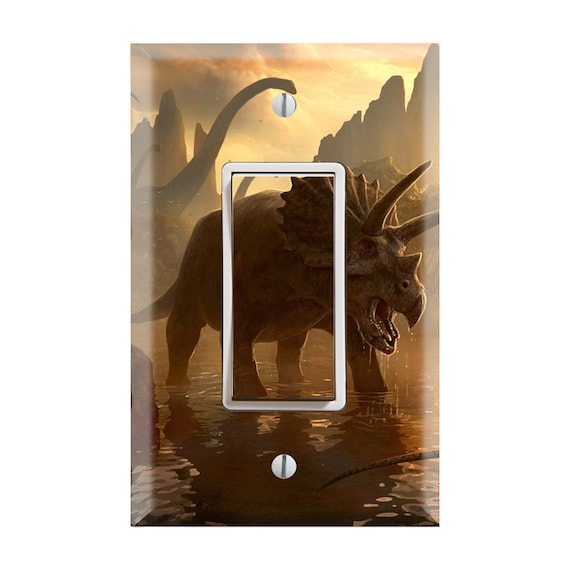 Dino TF35 Dinosaur Plate Cover Dinosaurs Nursery Light Switch Jurassic Park Decor Tyrannosaurus rex Switch Cover T-Rex Switch Plate