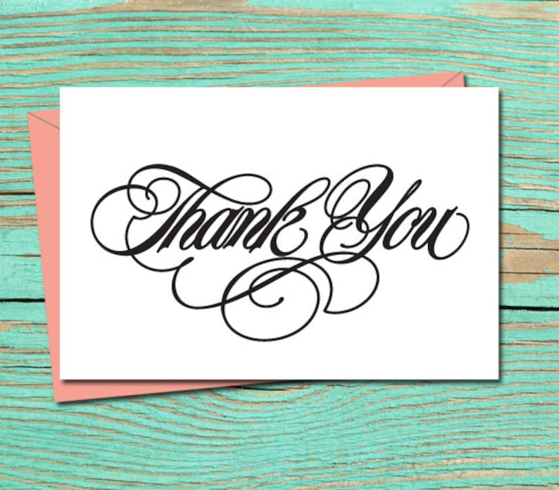 image regarding Thank You Printable Cards named Thank By yourself PRINTABLE CARD, Thank Yourself Card, Printable Marriage ceremony Stationery, Thank By yourself Electronic Obtain, Thank Yourself Card, Thank Yourself E-Card 10